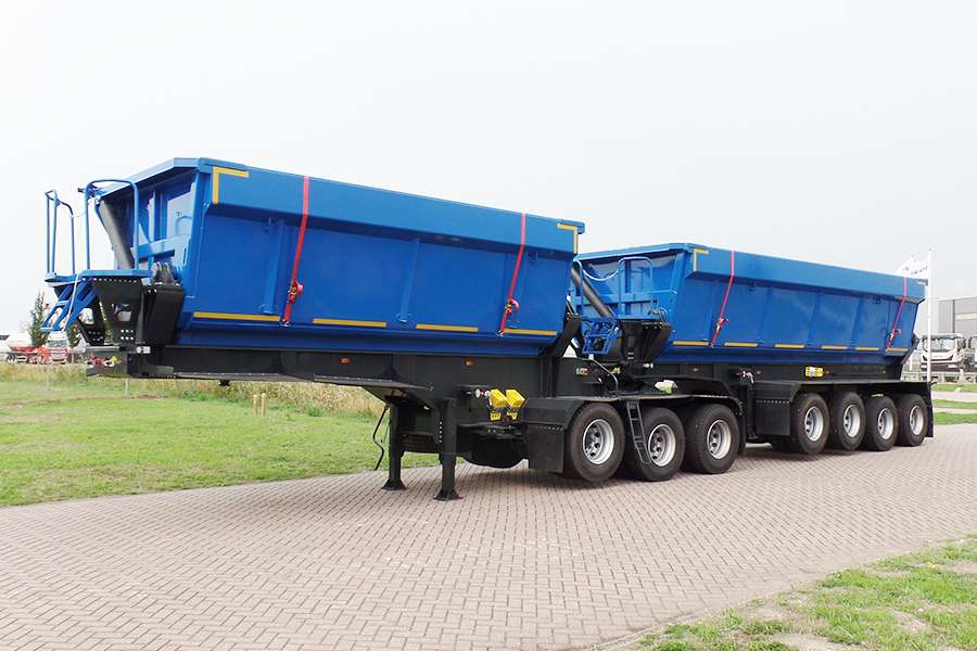 Mitrax Side tipping TNR745 B-double 7-Axle